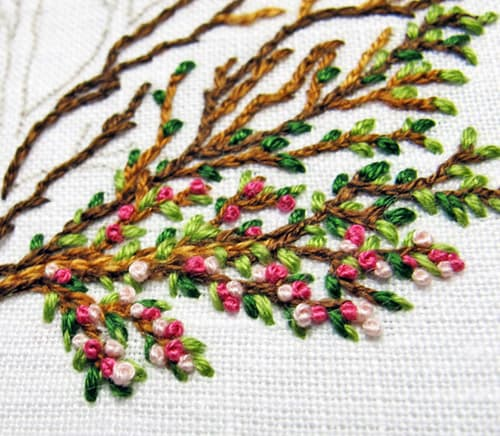 French Knot - sewing stitches