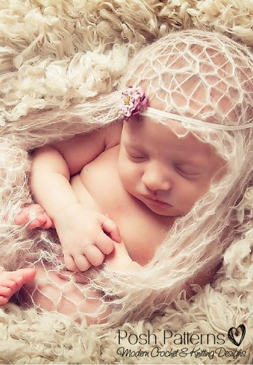 Lace Baby Blanket - one-skein knitting patterns