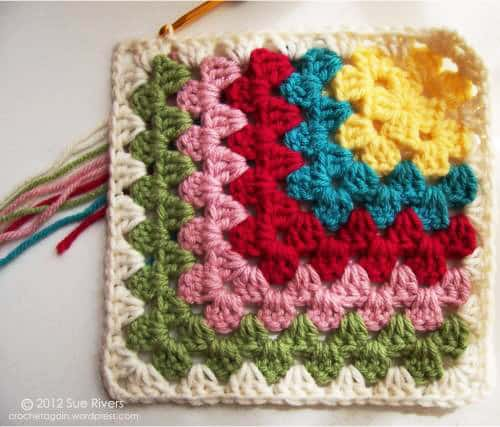 Mitered Granny Square - easy crochet squares
