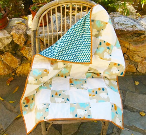 One Patch - easy baby quilt patterns
