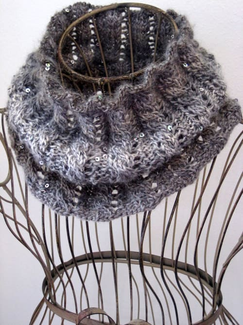Rib & Cable Cowl - one-skein knitting patterns