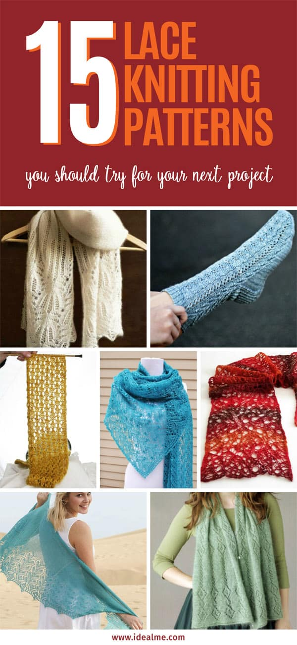 Whatever type or look of lace knitting pattern you choose, it will always look fabulous and ultra-chic. #knitting #knittingpatterns #laceknitting