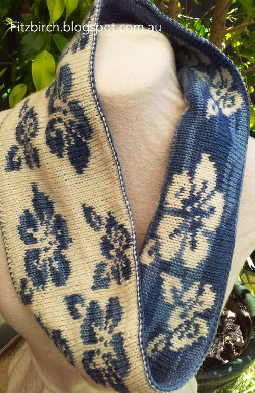 Floral Cowl - double knitting projects