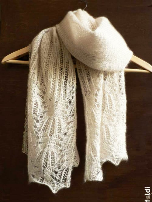 Mohair and Silk Shawl - lace knitting patterns
