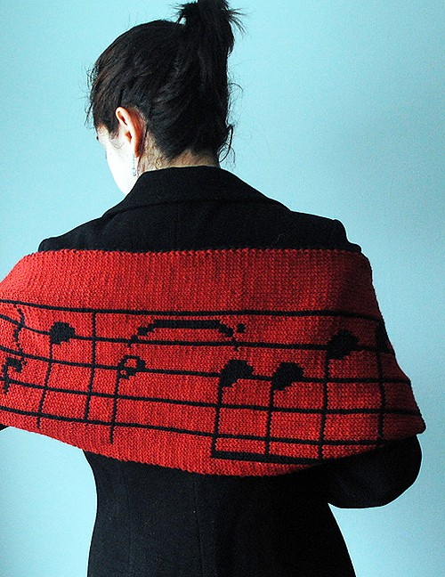 Musical Scarf - double knitting projects