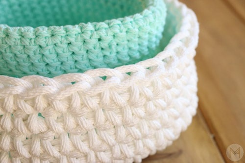 Simple Basket - quick crochet projects