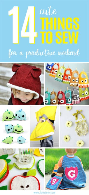 We've gathered here a smorgasbord of the cutest things to sew. #sewing #sewingpatterns #sewingprojects