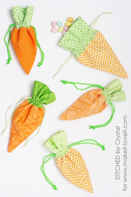 Carrot Treat Bag - things to sew