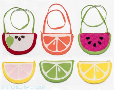 Fruit Slice Purses and Pouches - things to sew