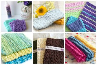 For a beginner, these easy crochet washcloths are the perfect projects to take on.