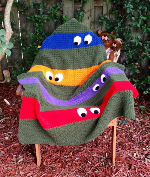 Teenage Mutant Ninja Turtle - free crochet blanket patterns