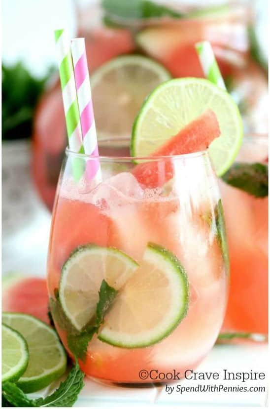 watermelon mojito. A party isn't a party without some crowd pleasing cocktails. Save your sanity at your next party by having a few of these make-ahead big batch cocktails mixed and ready to serve. Click here to check out these delicious big batch cocktail recipes now.