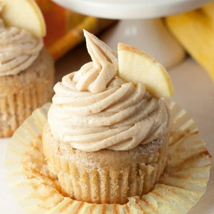 Apple Cider Cupcakes - These Fall recipes are perfect for the holidays and for any time you want to bring the delicious smells of apple, cinnamon, and pumpkin into your home. You're guaranteed to find a fall flavor you love with these 18 delicious fall dessert recipes.