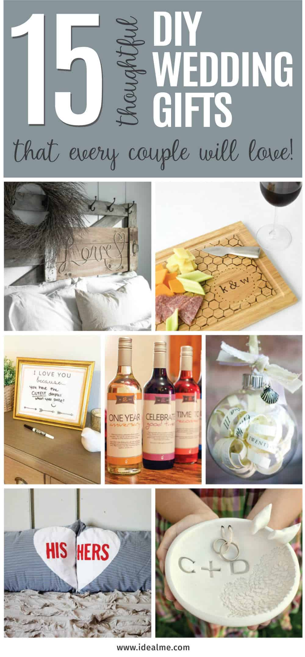 Are you struggling to figure out what to get your favorite newlyweds? Don't stress! We've got the perfect thoughtful DIY wedding gifts that every couple will love.