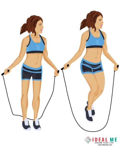 Jump Rope - Check out this awesome 10 minute Rosie the Ripper giant set 100-calorie workout. Giant sets are great for people looking to burn extra body fat in a short amount of time.