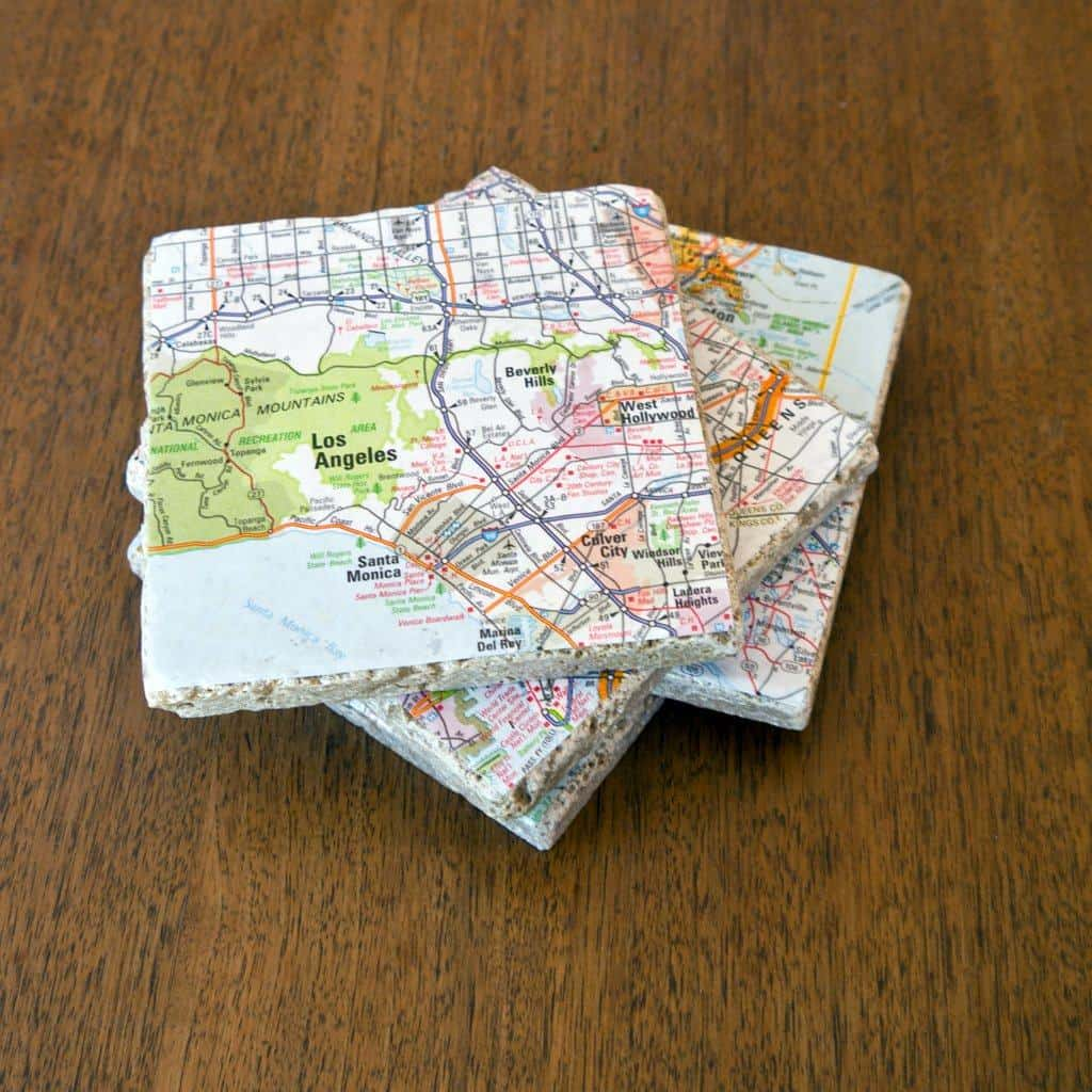 Map Coaster - Are you struggling to figure out what to get your favorite newlyweds? Don't stress! We've got the perfect thoughtful DIY wedding gifts that every couple will love.