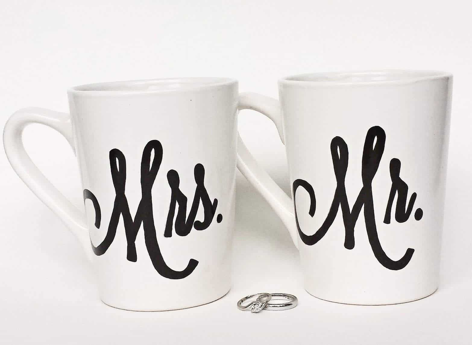 Mr and Mrs Mugs - Are you struggling to figure out what to get your favorite newlyweds? Don't stress! We've got the perfect thoughtful DIY wedding gifts that every couple will love.