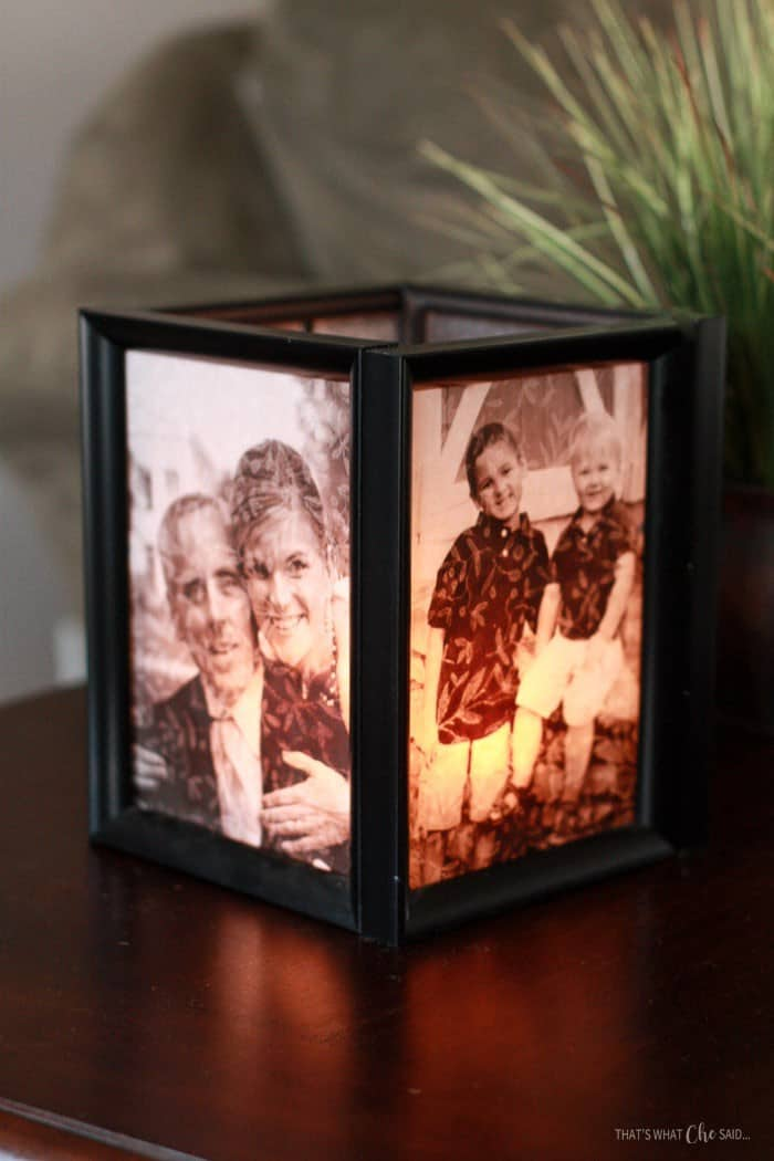 Picture Frame Luminaries - Are you struggling to figure out what to get your favorite newlyweds? Don't stress! We've got the perfect thoughtful DIY wedding gifts that every couple will love.