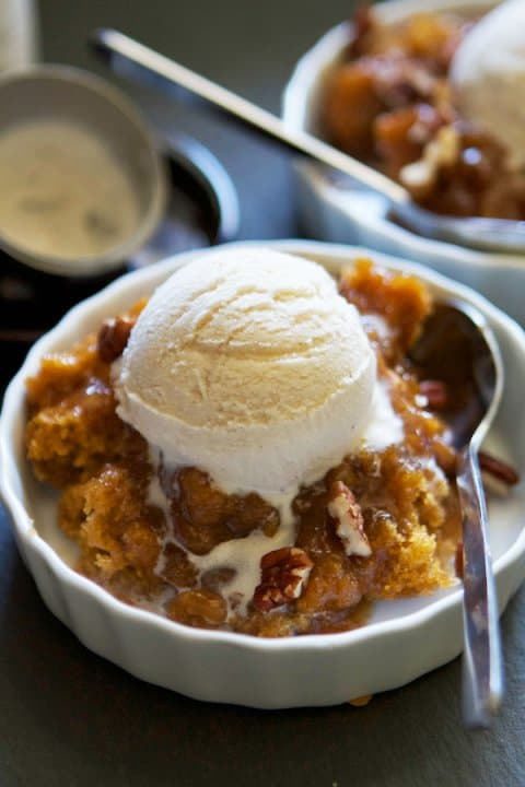 Pumpkin Pecan Cobbler - These Fall recipes are perfect for the holidays and for any time you want to bring the delicious smells of apple, cinnamon, and pumpkin into your home. You're guaranteed to find a fall flavor you love with these 18 delicious fall dessert recipes.