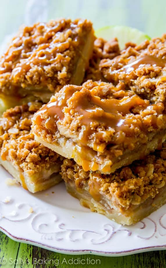 Salted caramel apple pie bars - These Fall recipes are perfect for the holidays and for any time you want to bring the delicious smells of apple, cinnamon, and pumpkin into your home. You're guaranteed to find a fall flavor you love with these 18 delicious fall dessert recipes.