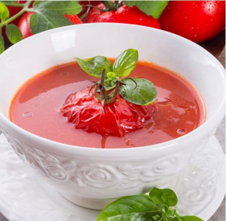 Spiced Tomato Soup - Canning homemade soups can help you save money, gain control over what's in your food, and save you time when you need a quick meal. Make your own canned soup with one of these delicious twelve recipes today.