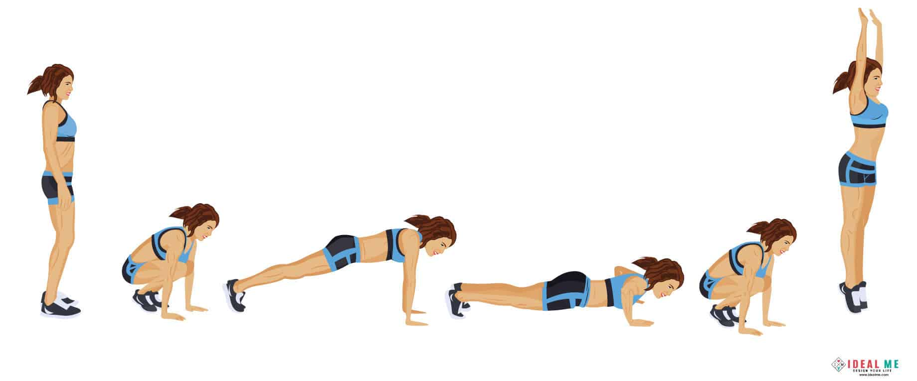 Burpees - Check out this awesome 10 minute Rosie the Ripper giant set 100-calorie workout. Giant sets are great for people looking to burn extra body fat in a short amount of time.