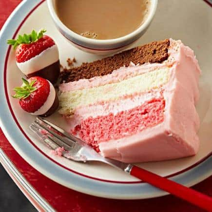 Neapolitan Party Cake - Check out our list of 20 of the best easy desserts to feed a crowd. Be prepared for empty dishes and a round of applause when you bring one of these recipes to your next event.