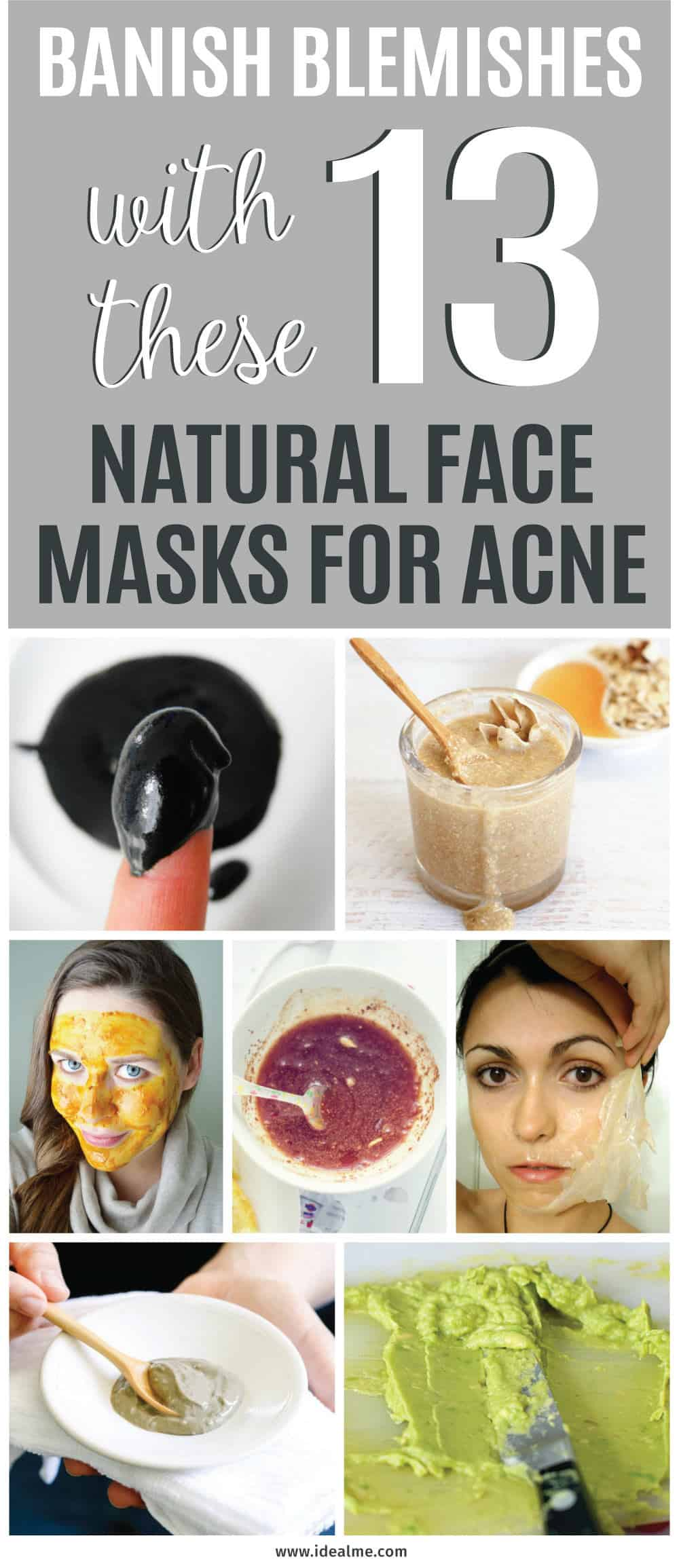While facial masks might not be the ultimate acne cure, they can definitely improve the overall look and condition of your skin. If you're tired of looking in the mirror and seeing problem skin, banish blemishes with these 13 natural face masks for acne.