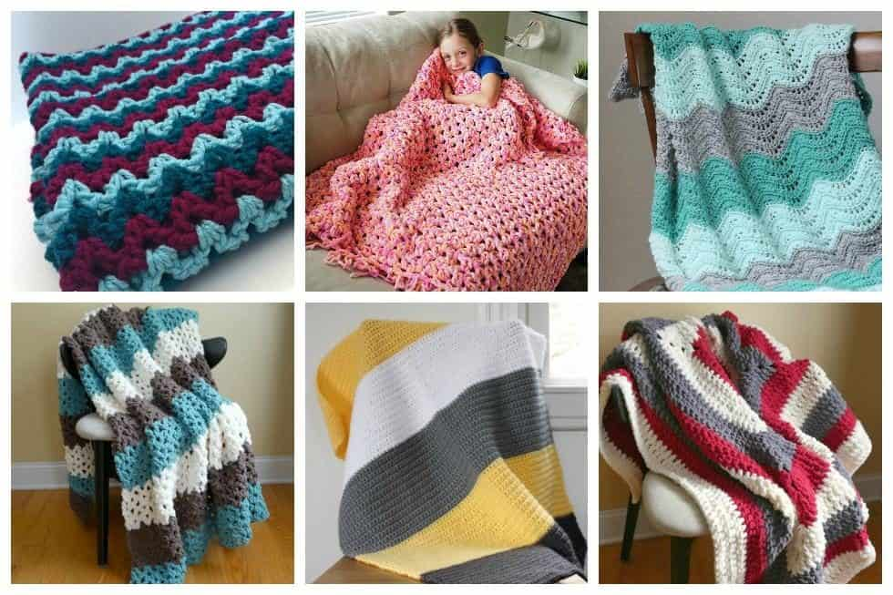 20 Awesome Crochet Blanket Patterns For Beginners Ideal Me