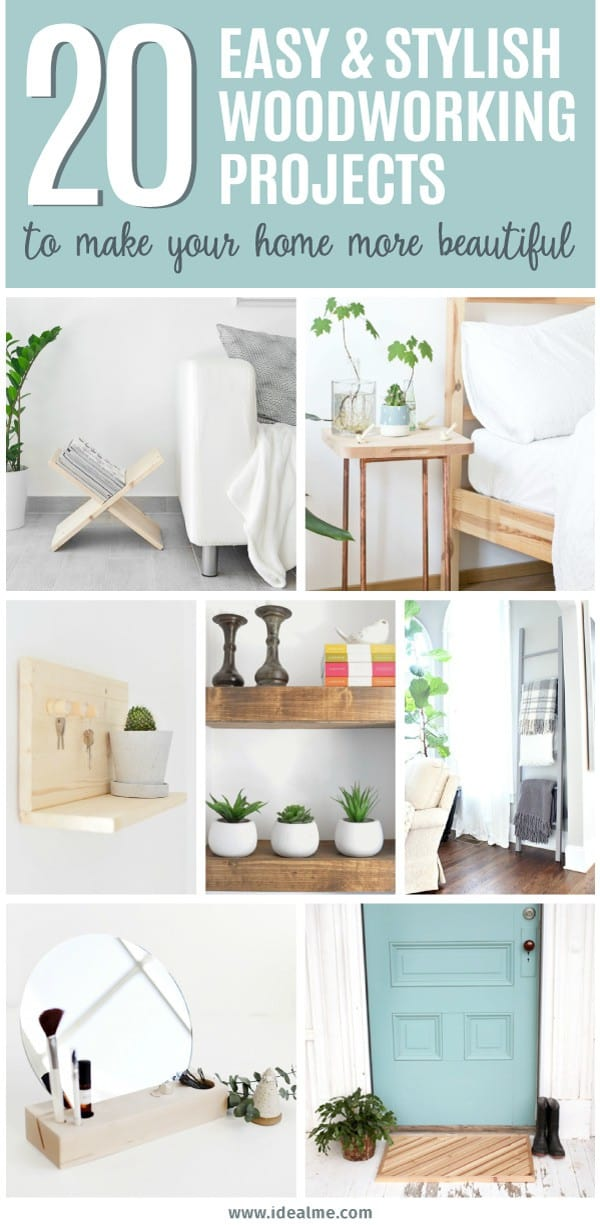 20 Easy Woodworking Projects To Make Your Home More Beautiful Ideal Me