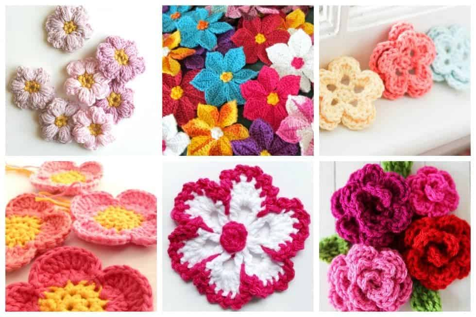 These sweet little blooms are the perfect way to use up scraps of yarn or try out new yarns.