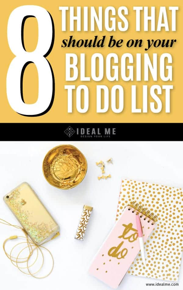 These 5 things that should be on your blogging to do list - they're the cornerstone of building a profitable blog and they're proved to work.