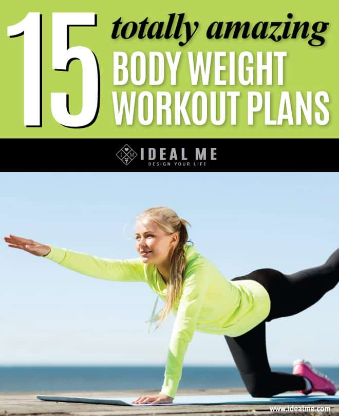 There's nothing more accessible than bodyweight workout plans. Bodyweight exercises like lunges, triceps dips, and pushups are simple and super effective. They offer crazy challenging workouts that will help tone and build muscle.