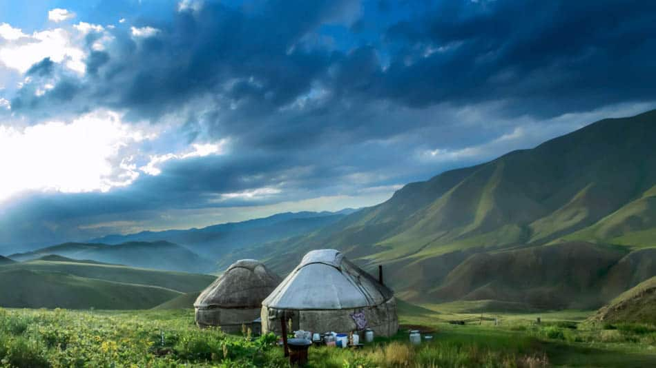 cheap place to fly, experience Kyrgyzstan yurt community