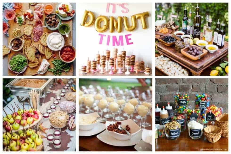 One trend that we've fallen in love with lately is the food bar. Check out these 20 fun food bar ideas that'll be perfect for your next big event.