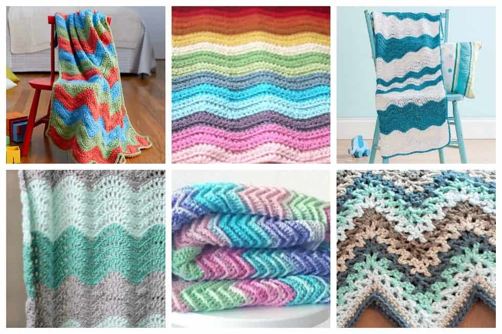 We've explored the web to find17 easy ripple crochet blanket designs. These distinctive patterns make a thoughtful gift and beautiful addition to any home.