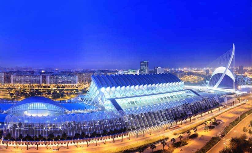 The City of Arts and Sciences, Valencia Spain - cheap place to fly