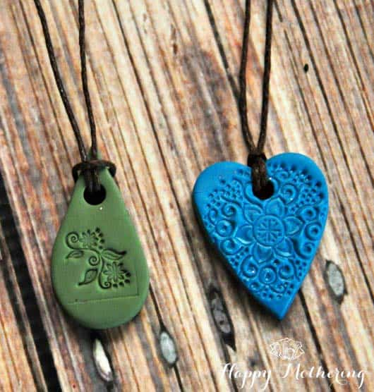 clay polymer diffuser necklaces jewelry