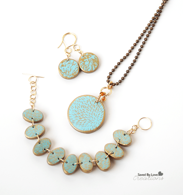clay polymer silkscreen Jewelry