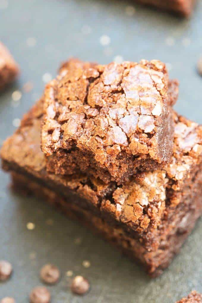 easy paleo dessert four-ingredient flourless protein brownies