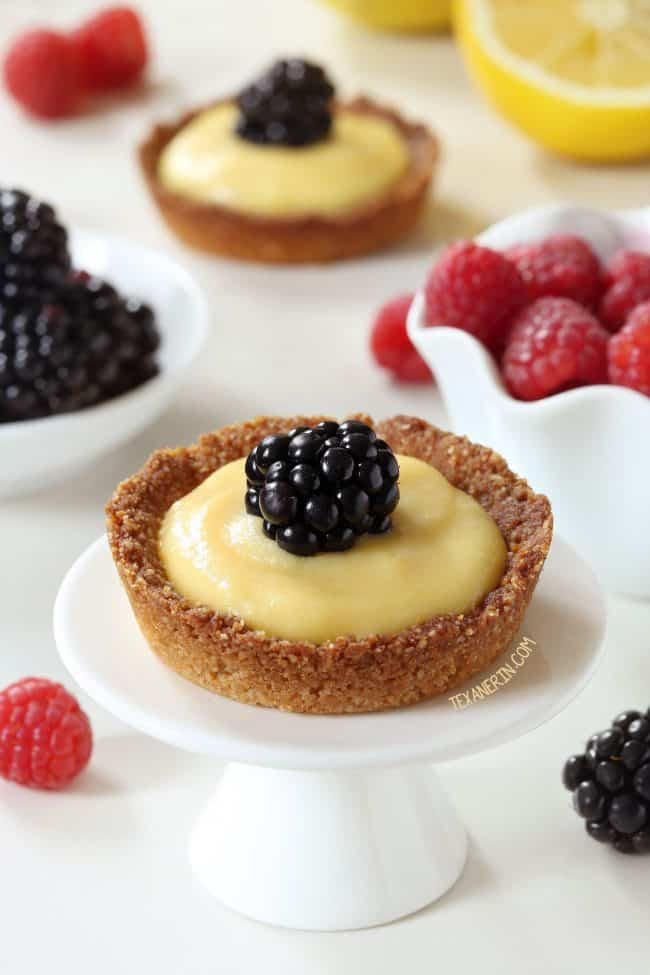 easy paleo dessert mini lemon tarts