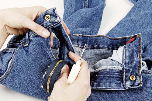 how to sew a replacement zipper