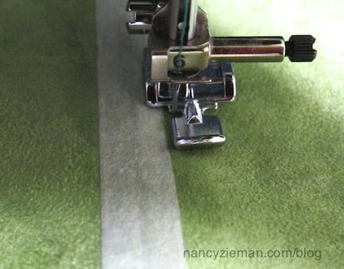 how to sew centered zipper pinless sewing