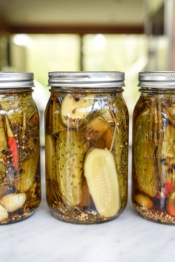 killer spicy garlic dill pickles - recipe canning vegetables