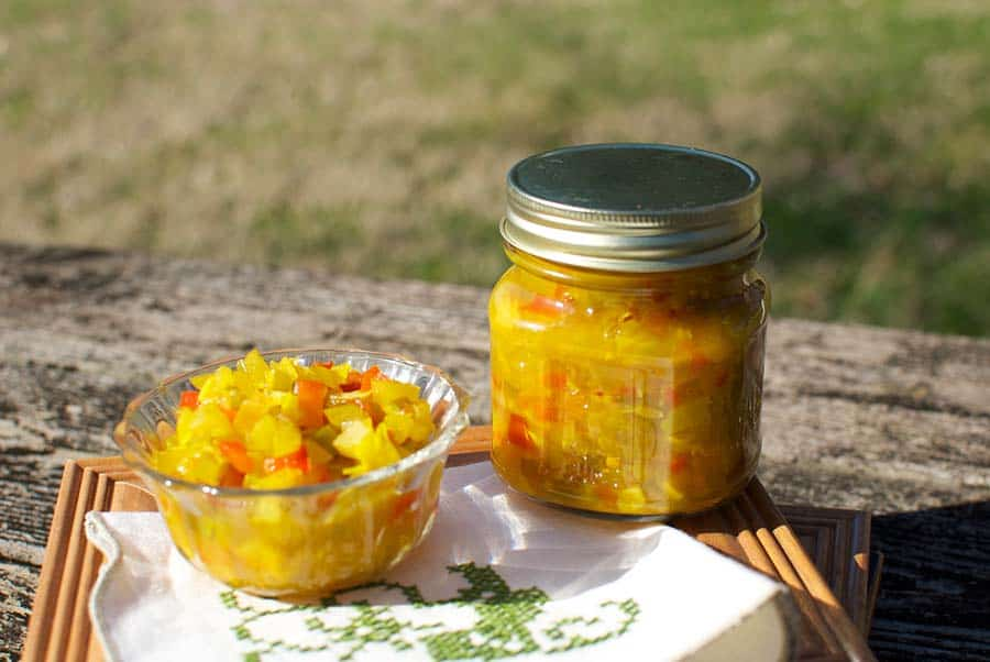 old-fashioned chow chow relish - recipe canning vegetables