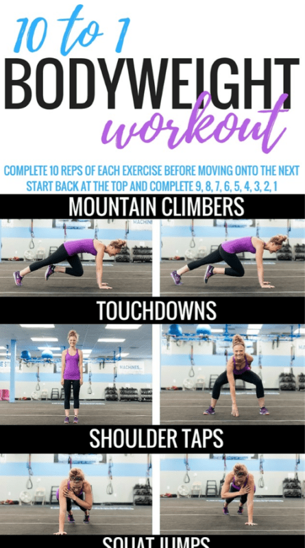 15 Amazing Bodyweight Workout Plans - Ideal Me