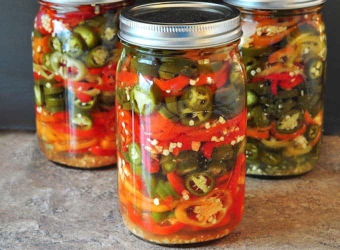 refrigerator pickled hot peppers - recipe canning vegetables