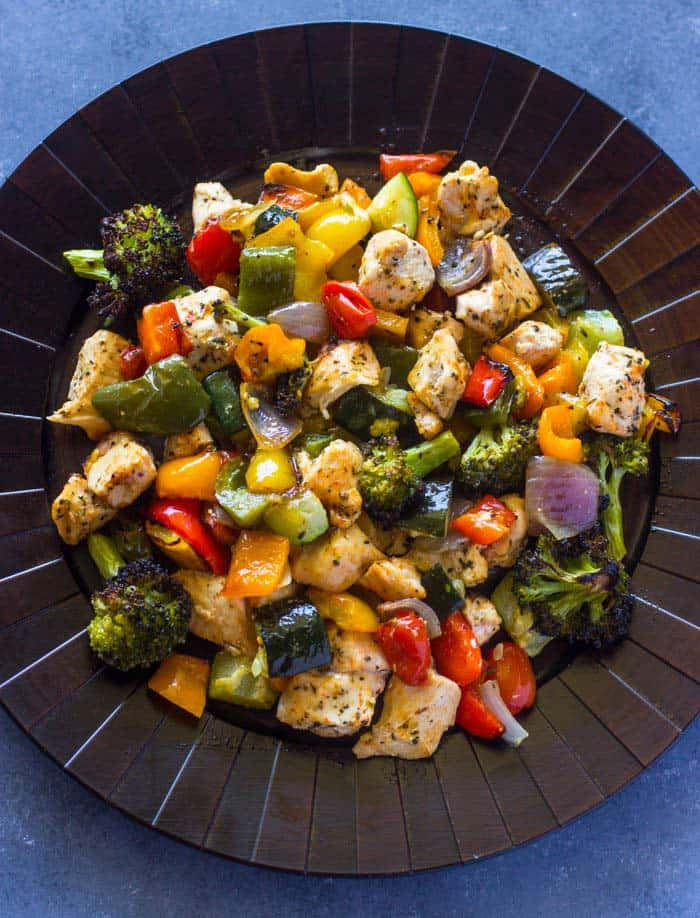 15 Minute Healthy Roasted Chicken and Veggies - quick paleo recipes