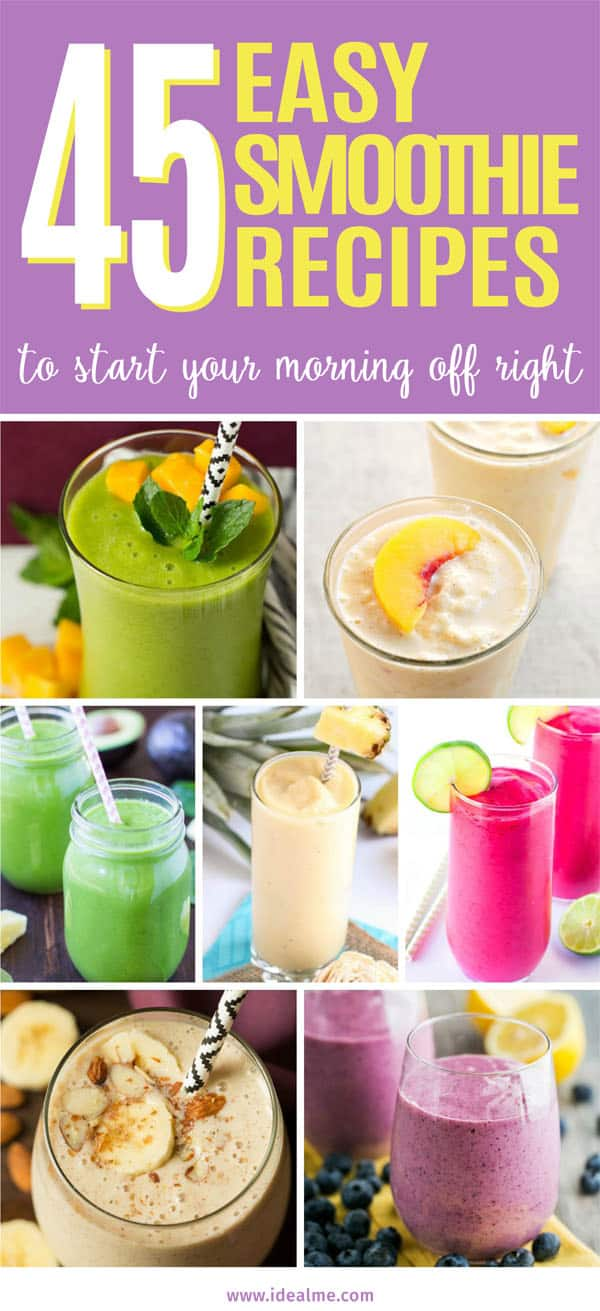 45 easy smoothie recipes