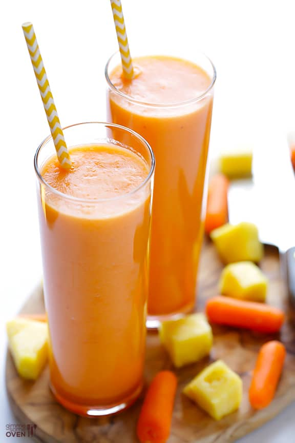 Carrot Pineapple Smoothie - easy smoothie recipes